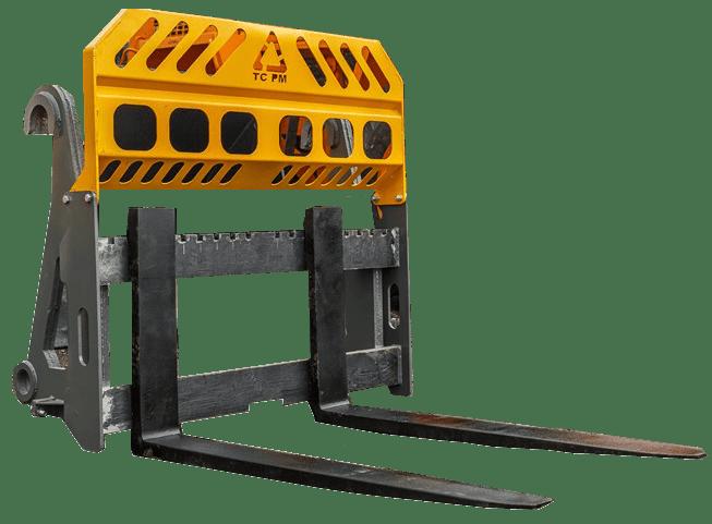 Паллетные вилы на фронтальные погрузчики и экскаваторы-погрузчики ТЦ ПМ (собственное производство)
