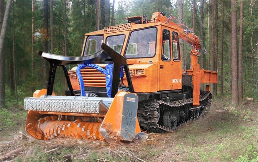 Лесной мульчер FERRI TSKFF 2200 на шасси АЗСМ
